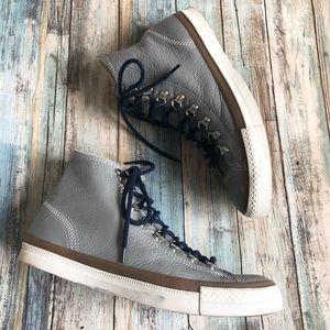 Unisex Converse Hi Tops Gray Leather EUC